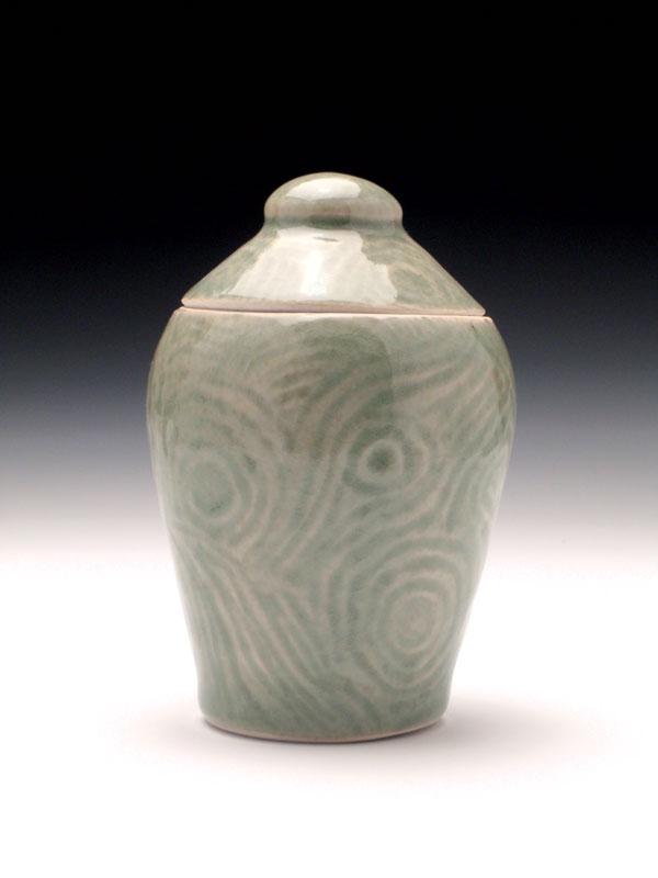 Carved Lines Jar