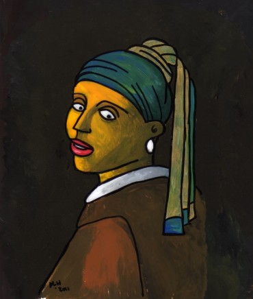 Girl With a Pearl Earring (after Vermeer & M Groening