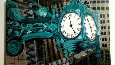 Liquid City:  State Street Clock